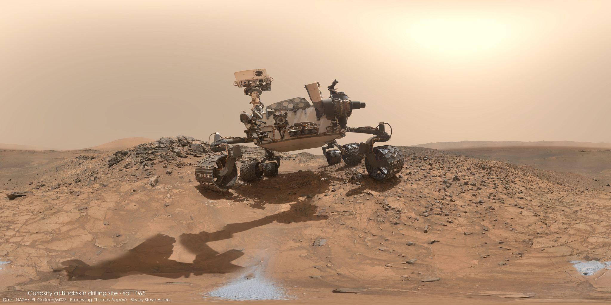 Toutes les tailles | Curiosity at Buckskin drilling site - sol 1065 | Flickr: partage de photos!