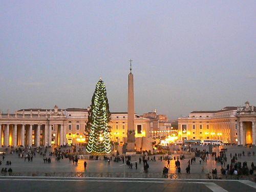 L'albero di Natale in Piazza San Pietro