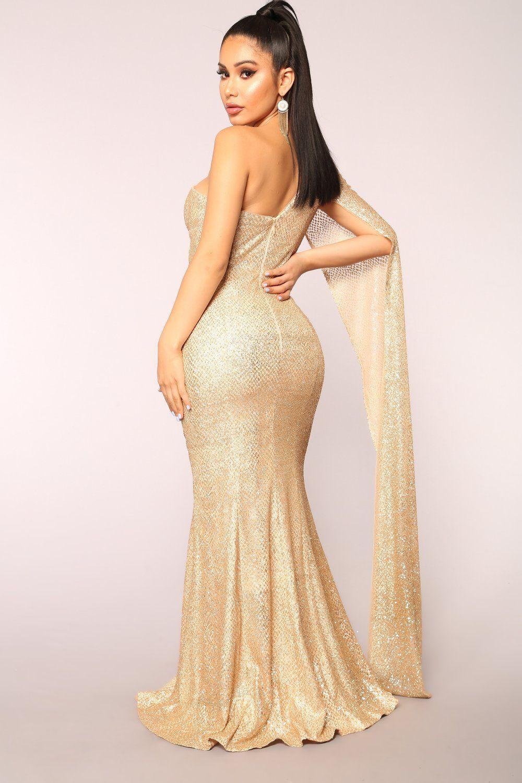 Golden Era Glitter Dress - Gold Gold Fashion b7eef7a7d8