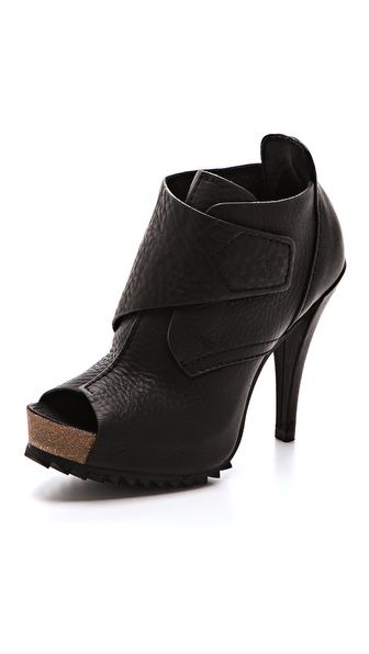 Pedro Garcia Leather Peep-Toe Booties discount affordable sale cheap prices sale original cheap sale footaction discount reliable NXdBOcpx9h