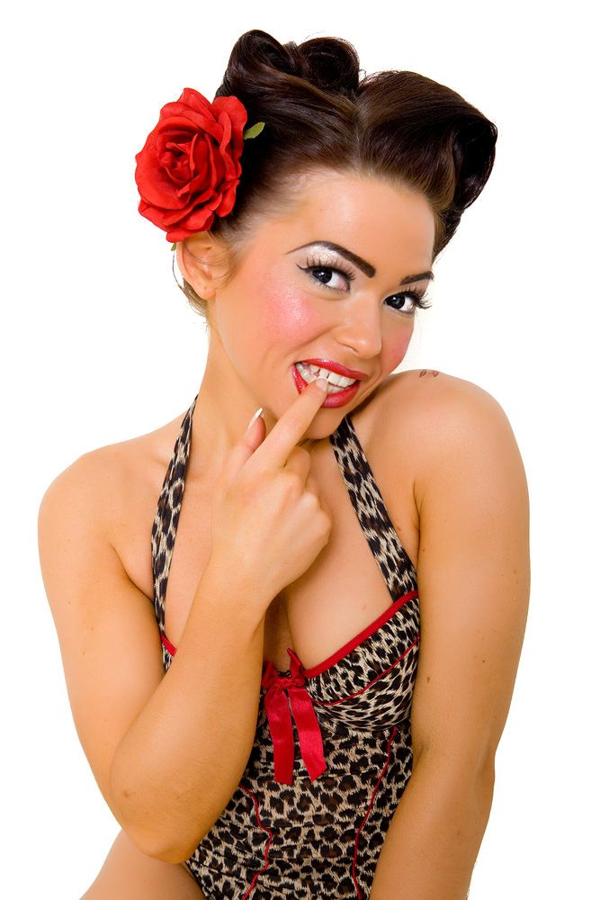Enjoyable 1000 Images About Pin Up Hair On Pinterest Hair Flowers Short Hairstyles Gunalazisus