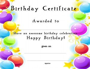 graphic regarding Printable Birthday Certificates titled Certification Template for Young children-Free of charge Printable Certification