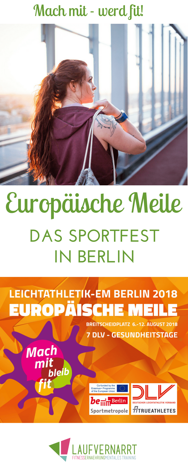 Anzeige: Europäische Meile Berlin - Mach mit, bleib fit ...