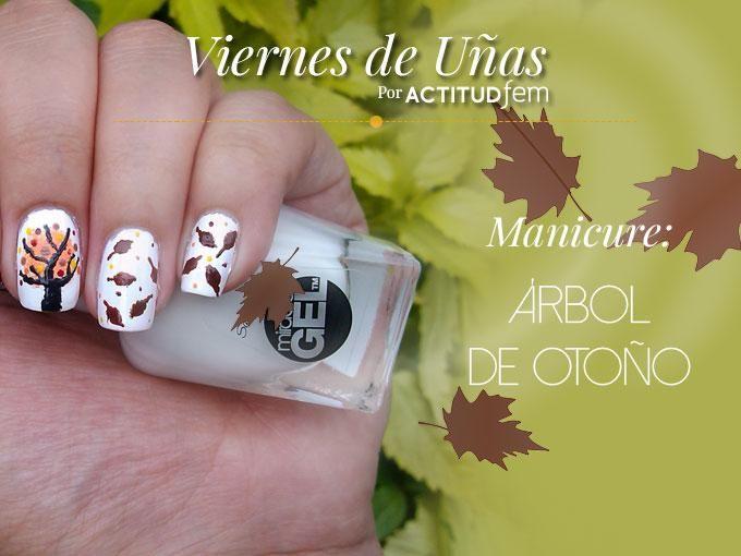 Hojas de otoño en tus uñas | Esmalte blanco, Colores vivos y Esponja
