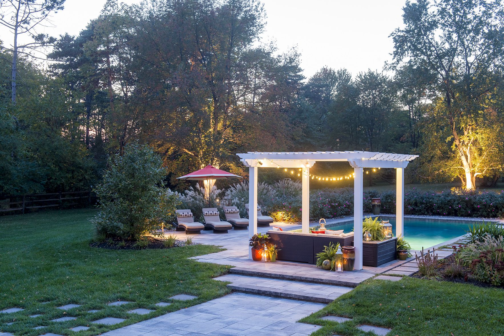 Superior Patio, Pergola And Pool Design For Evening Entertaining   Built By Gasper