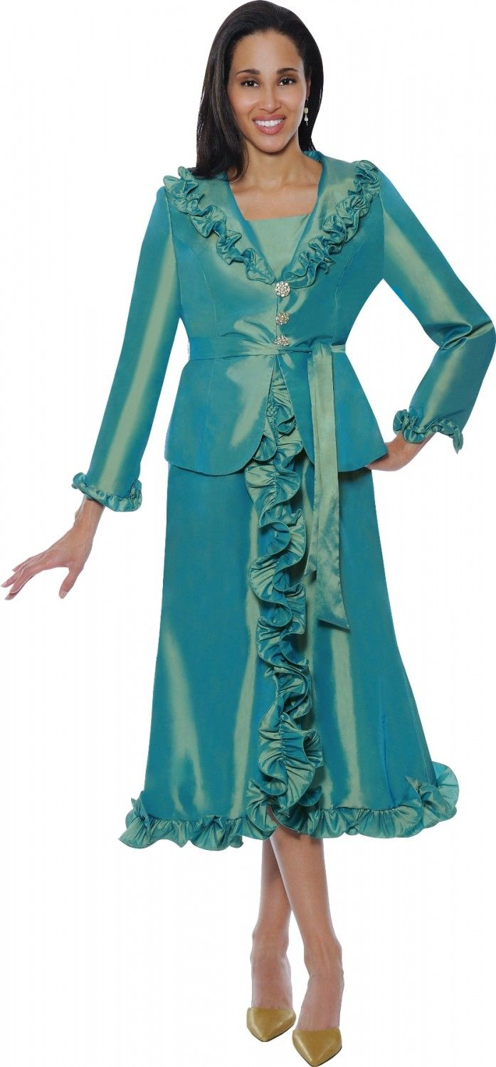 2 Piece Church Dress By Nubiano DN5352 - Divine Church Suits ...