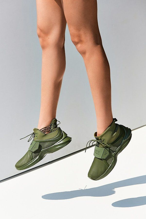 d06d5e2212ac13  129.99 marked down from  190! Puma Fenty by Rihanna Trainer Hi Leather  Sneaker  puma  rihanna  rhianna  sneakers  olive