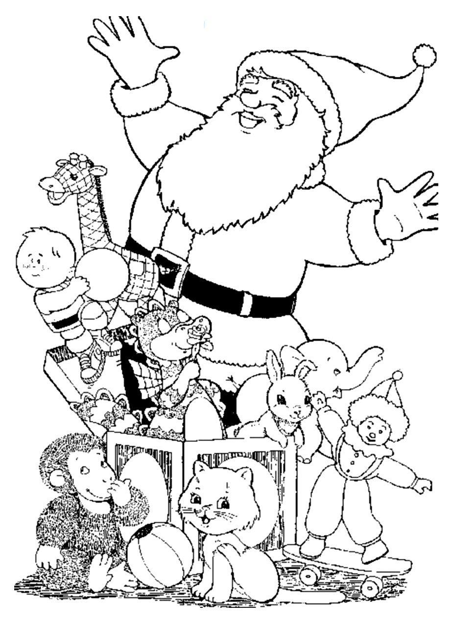 Pere Noel Cadeaux Coloriage Pere Noel Coloriages Pour Enfants