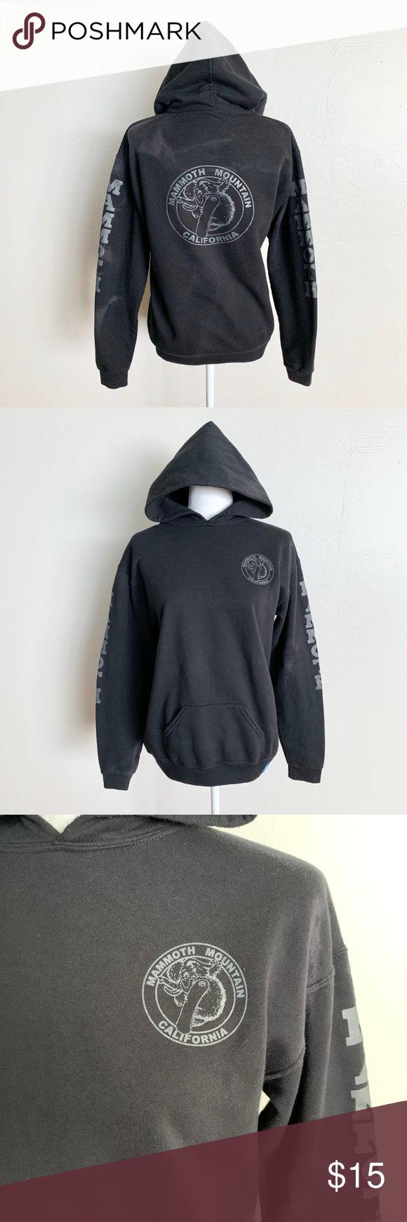 Mammoth Mountain Official Pullover Black Hoodie Hoodies Black Hoodie Sweatshirt Tops