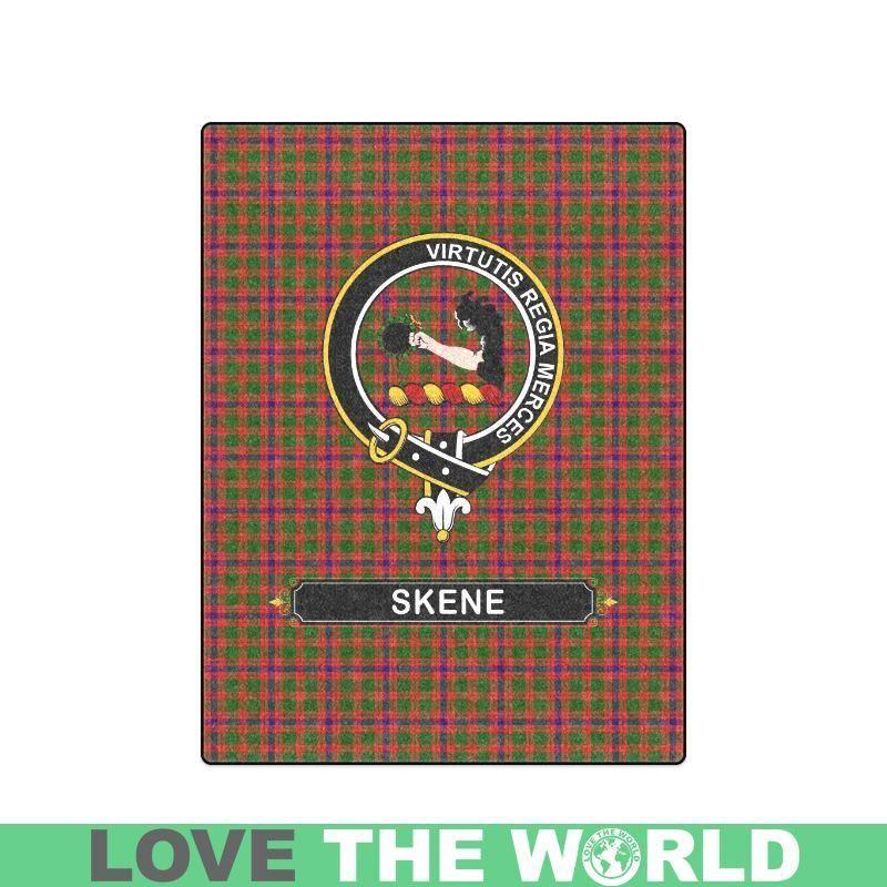 Skene Crest Tartan Blanket A1 | Scots wha hae! | Tartan, Blanket
