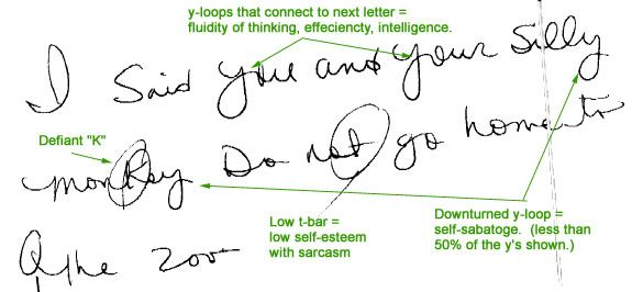 An Example Of Handwriting Analysis