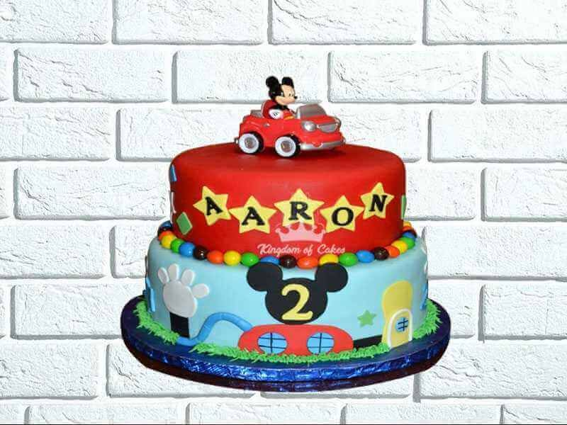 Enjoyable Mickey Donald Designer Cakes For Kids Unique Theme Birthday Personalised Birthday Cards Paralily Jamesorg