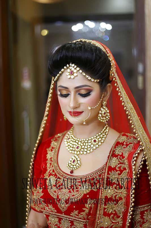 for bridal gallery follow shweta gaur makeup artist 91 97168 31277