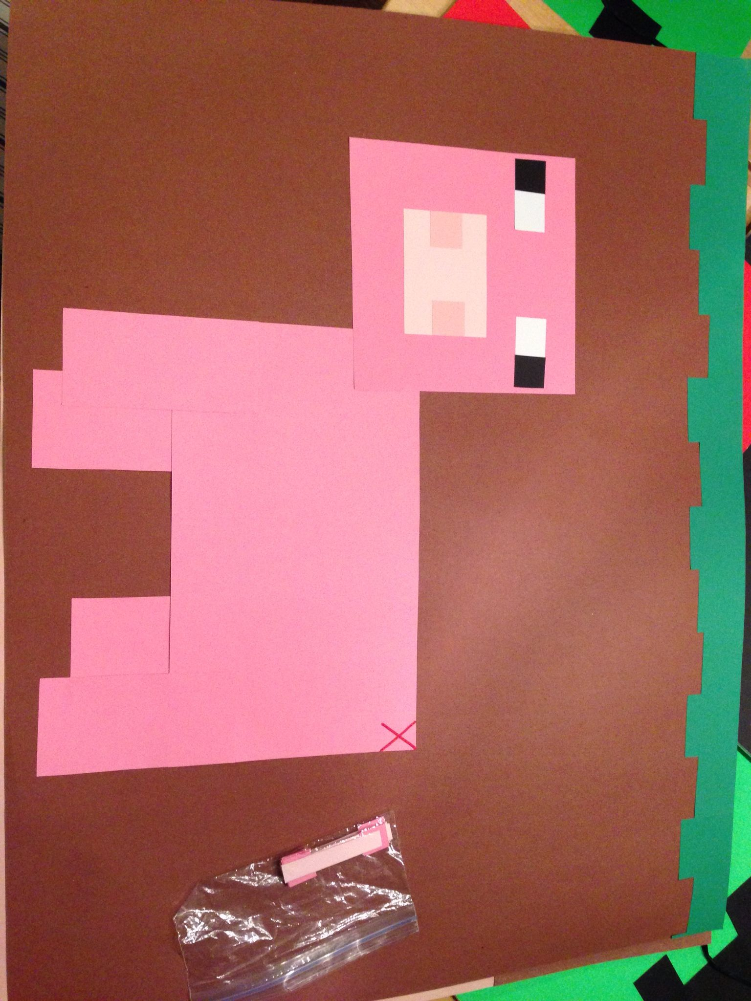 Minecraft pin the tail on the pig game   Minecraft party ...