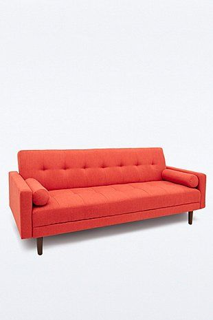 Night Day Sleeper Sofa Bed In Orange W 213cm 110cmw X 189cm Urban Outers 976 Uk Delivery Only
