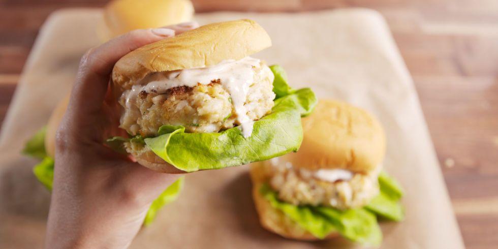 Crab cake burgers recipe recipes seafood recipes