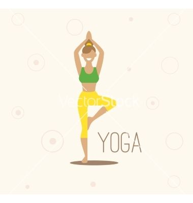 Yoga Surya Namaskara Yoga Vector Image On Vectorstock Yoga Illustration Yoga Poster Surya Namaskara