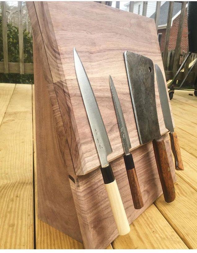 Walnut Magnetic Knife Rack Knife Rack Magnetic Knife Rack Wood