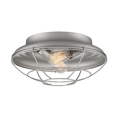 Millennium lighting 538 neo industrial 2 light ceiling flush mount