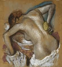 Woman Washing Her Back With A Sponge By Edgar Degas Edgar Degas