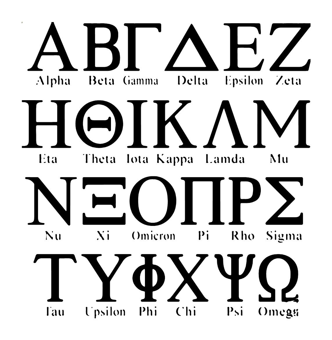 8th Greek Letter.The Greek Alphabet Has Been Used To Write The Greek Language