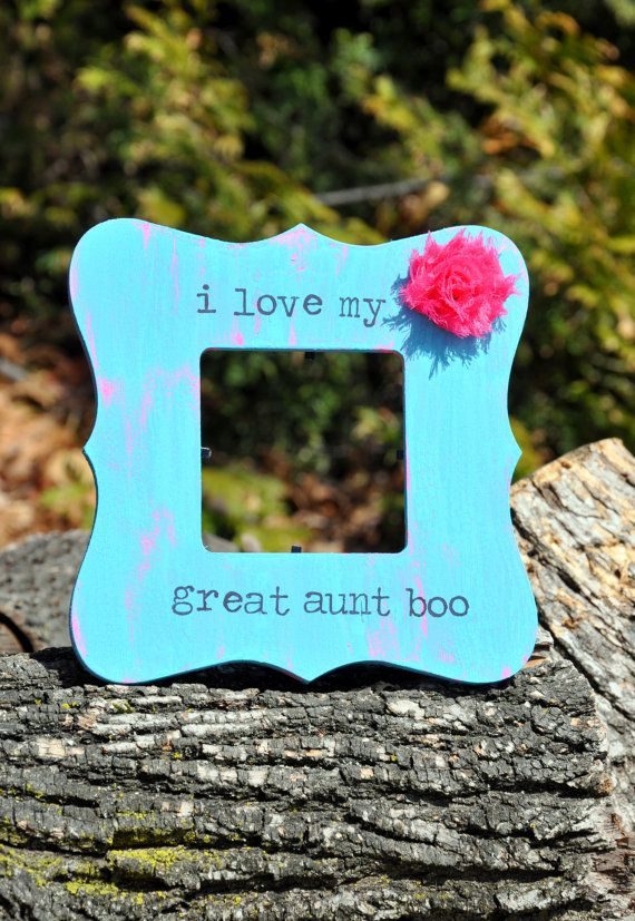 Custom Rustic Great Aunt Photo Frame by OhSoFooFoo on Etsy, $18.00 ...