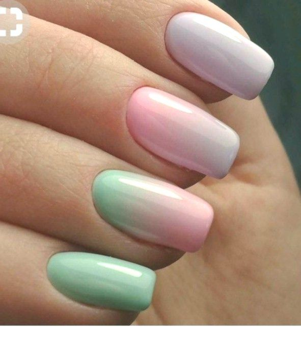 Pastel Ombre Nails Today we present 10 fabulous ombre nail ...