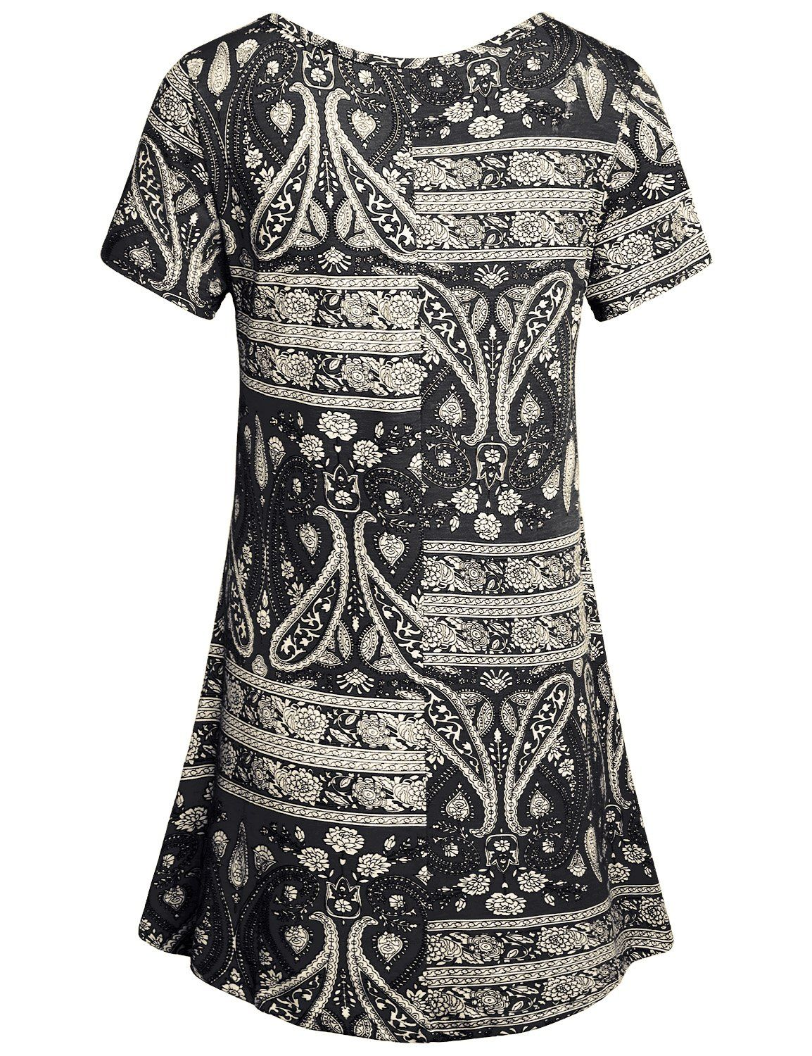 eb9f50a43e1d22 Hibelle Floral Blouses Womens Peasant Clothing Short Sleeve Crew Neck Shirt  Vintage Retro Style Ladies Knitted Print Tunic Tee Polyester Tops For  Legging ...