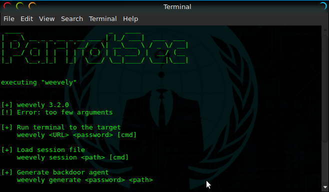 Backdoor A Web Server Using Weevely Today's tutorial is about