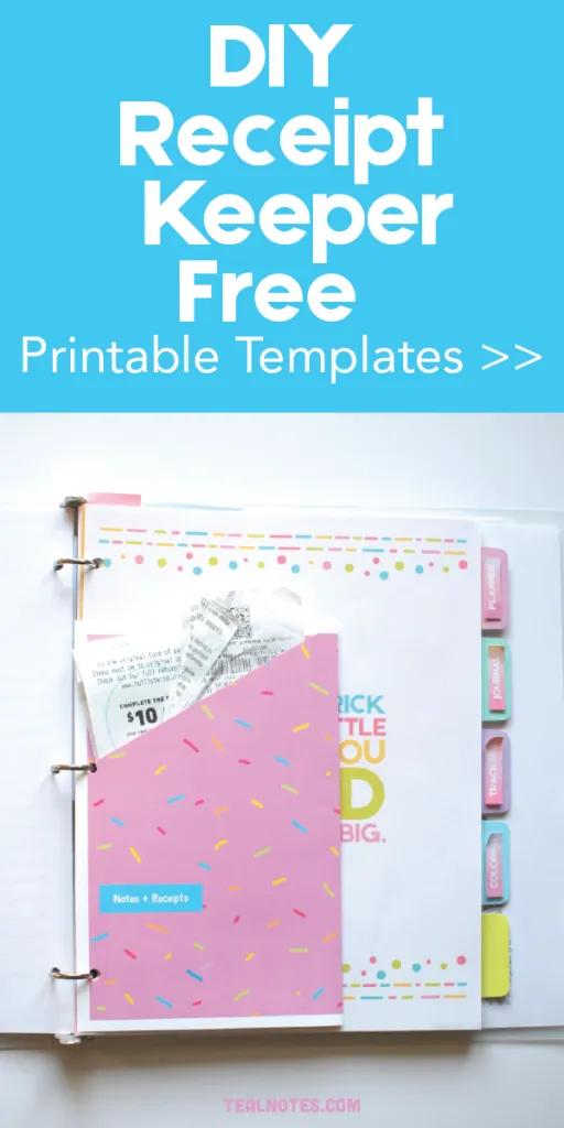 Diy Printable Planner Folders To Keep All Your Receipts And Spare Notes Printable Planner Receipt Organization Planner Printables Free
