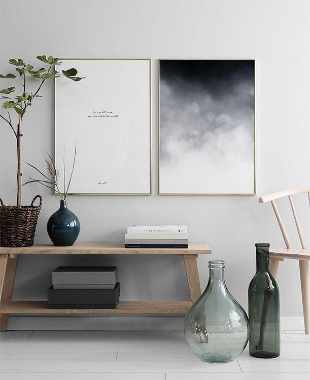 in der Gruppe Inspiration / Schwarz und Weiß bei Desenio AB - wohnzimmer design schwarz