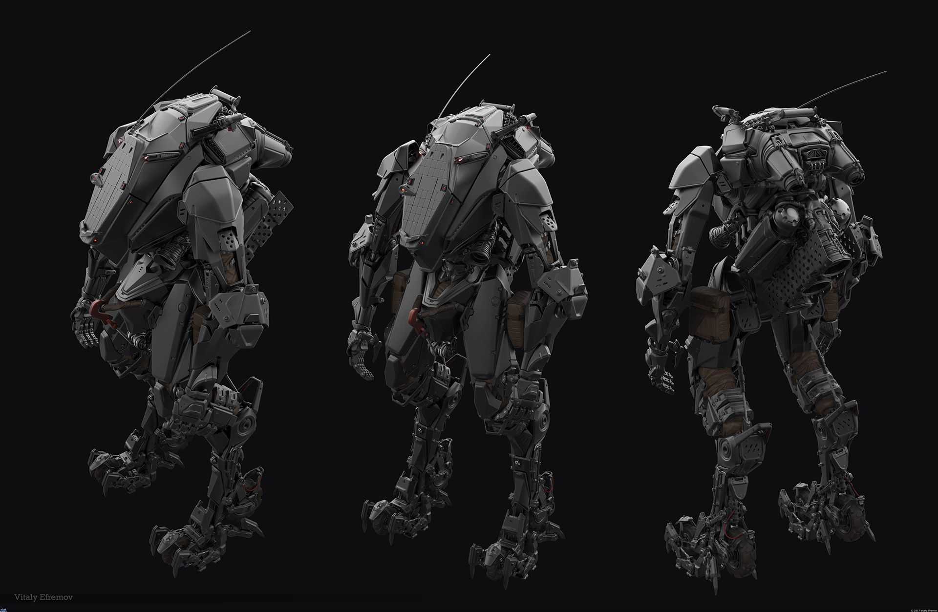Making of 3D Military Character in Exoskeleton