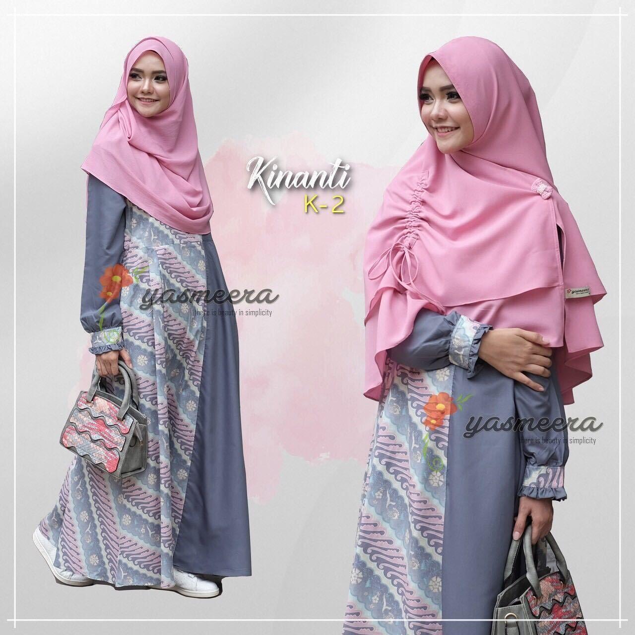 Gamis Yasmeera Kinanti Dress K12 - baju gamis wanita busana muslim