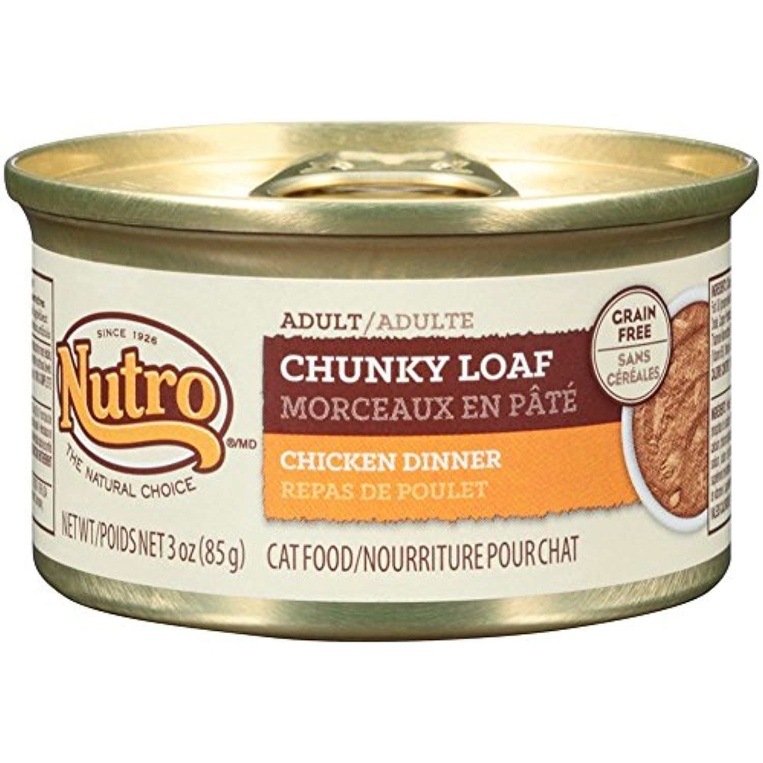 Nutro natural choice adult cat chunky loaf chicken dinner