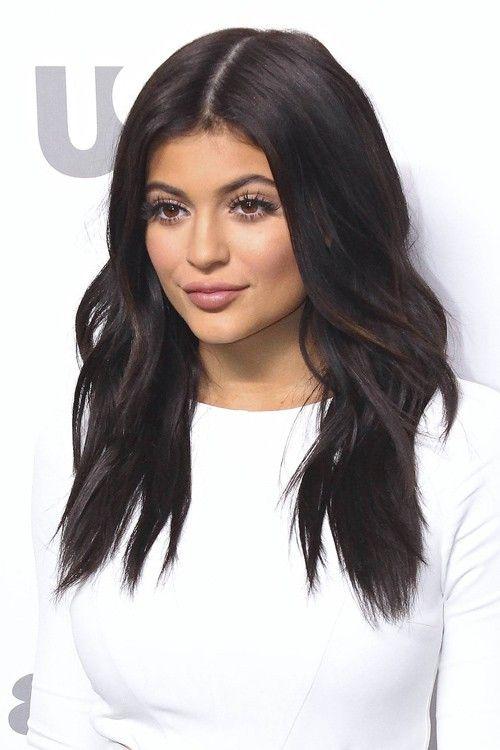 Kylie Jenner Wavy Dark Brown Loose Waves Hairstyle