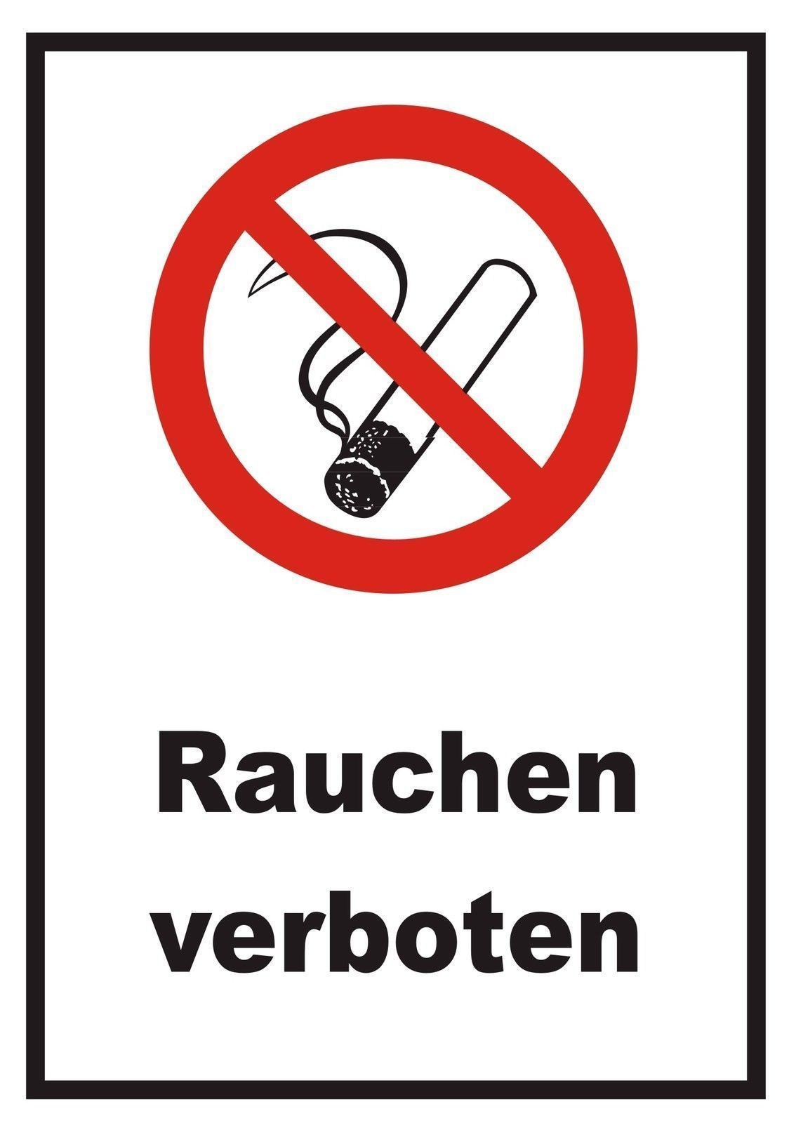 rauchen verboten ein schild sagt mehr als tausend worte raucherkneipen ausgenommen druck