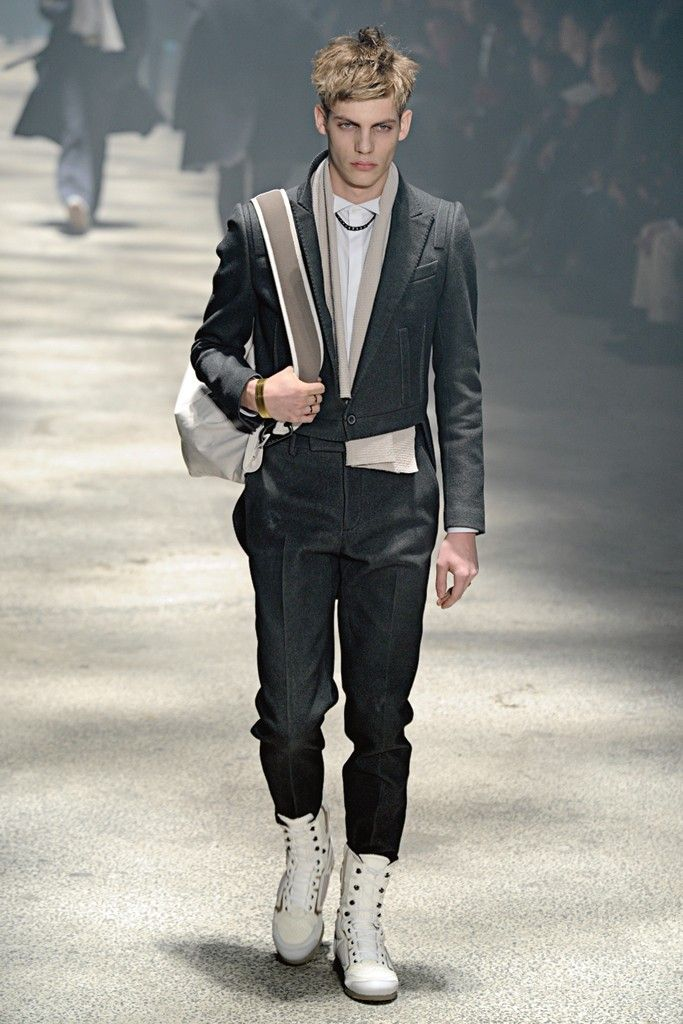 8697ec34a62 Luxury Men s Trend  High-tops Lanvin paired white high-tops with a suit for  fall  12.