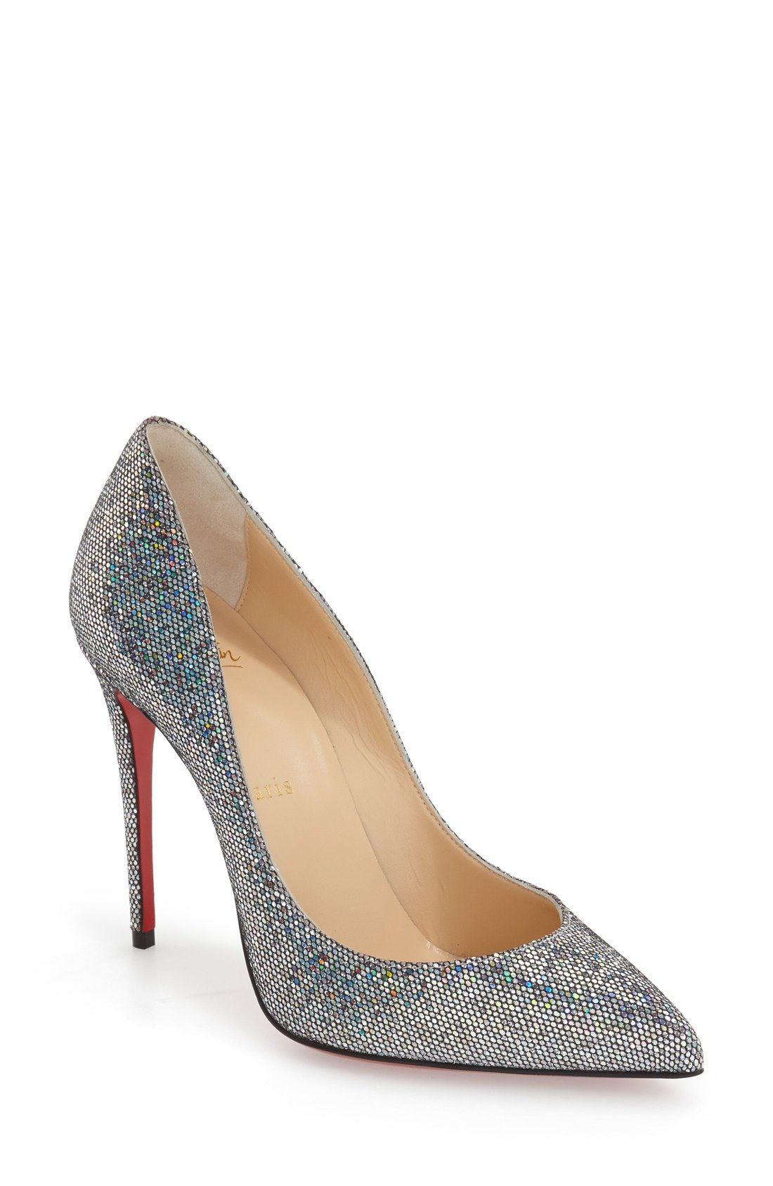3c1f726a67c Christian Louboutin  Pigalle Follies  Pointy Toe Pump available at   Nordstrom. Glitter HeelsRed ...