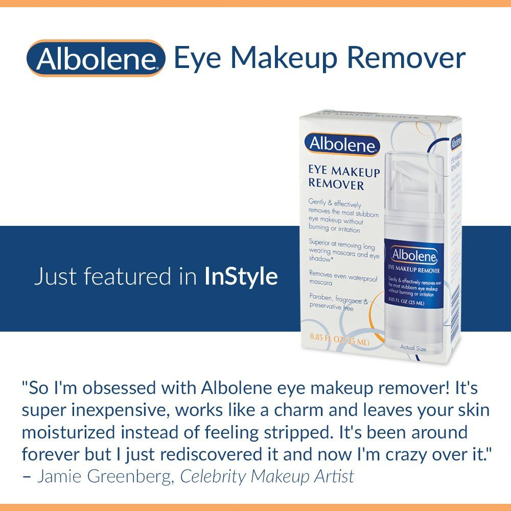 Albolene Eye Makeup Remover 0 85 Ounce Click Image For More Details This Is An Affiliate Link Facemakeuprem Eye Makeup Remover Makeup Remover Eye Makeup