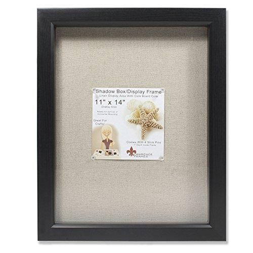 Lawrence Frames 11 By 14 Inch Black Shadow Box Frame Linen Inner Display Board Shadow Box Frames Shadow Box Picture Frames Box Frames