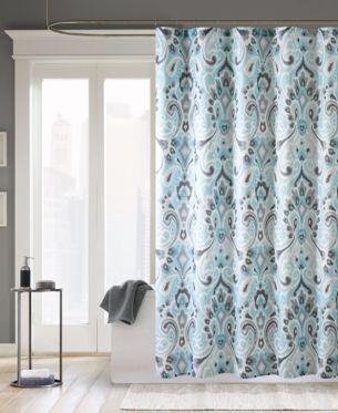 Madison Park Capris 72 X 72 Shower Curtain Blue Shower