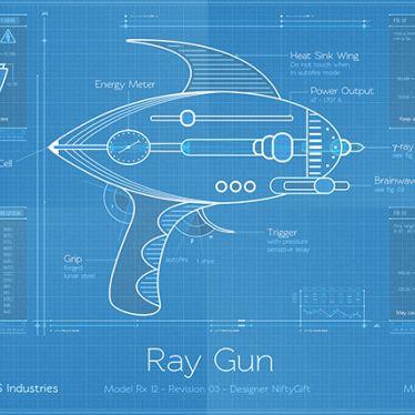Ray Gun Blueprint Awesome! Pinterest Concept art, Sci fi and - new blueprint gun art