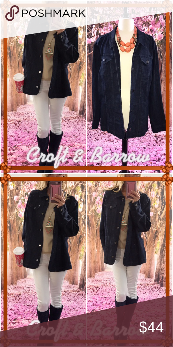 💎Barrow💎 Everyone needs a Jean jacket, they just look fabulous with everything. It's brand new/tags and it's just as amazing as it looks!. I do clip the bigger sizes so please check google for size chart in measurements. croft & barrow Jackets & Coats Jean Jackets
