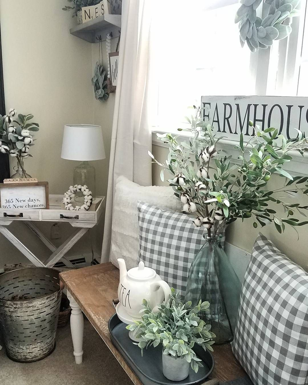 Is Farmhouse Decor Out: I Think This Is Too Much In A Small Space, But Pinning For