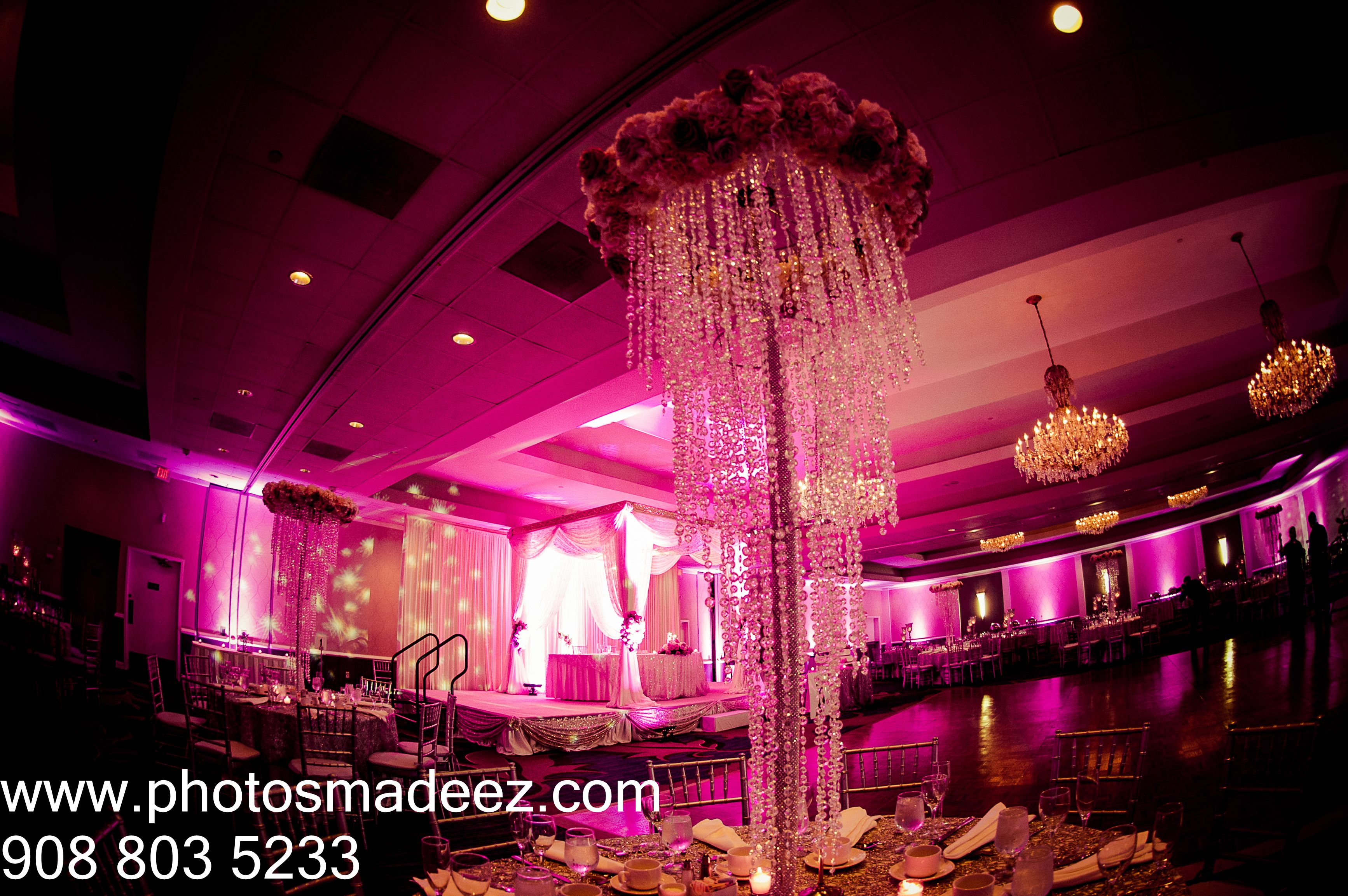Wedding Decor at Indian Wedding Reception at Sheraton Parsippany, NJ ...