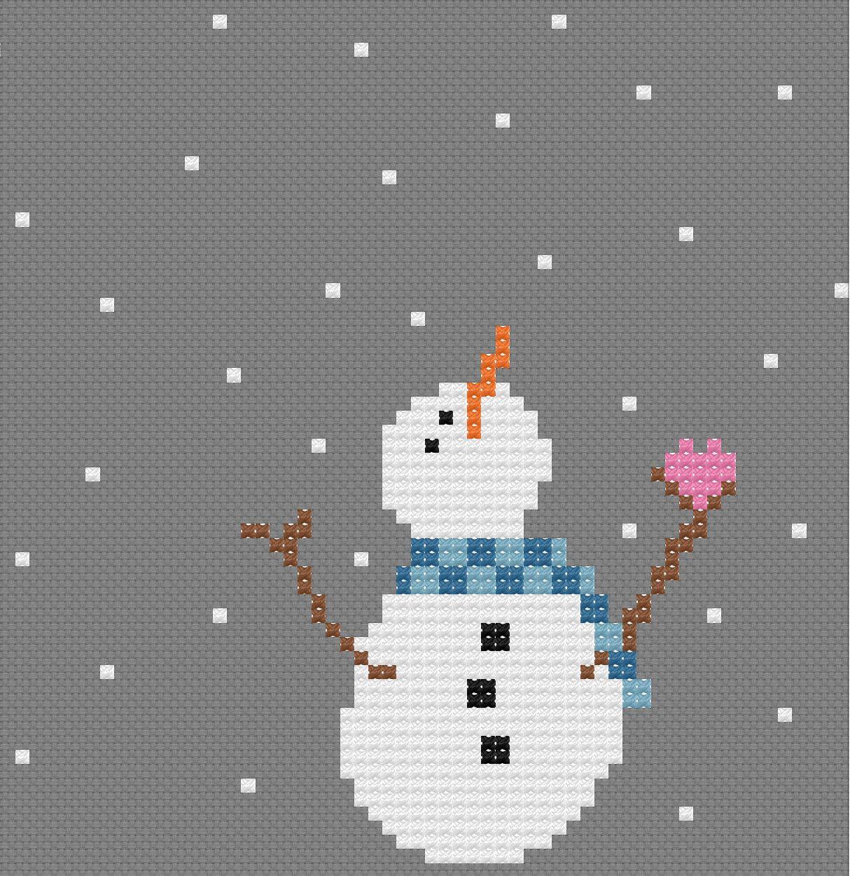 free snowman cross stitch patterns - Google Search   Cross Stitch ...