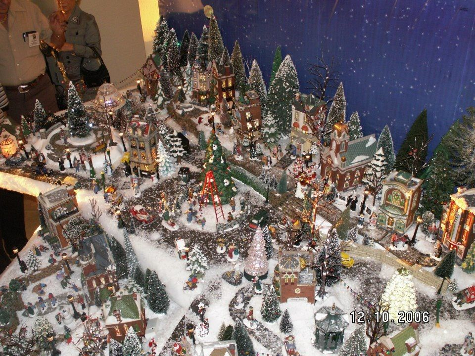 Department 56 Christmas Village Display.A Section Of My Own Dept 56 Christmas In The City Village