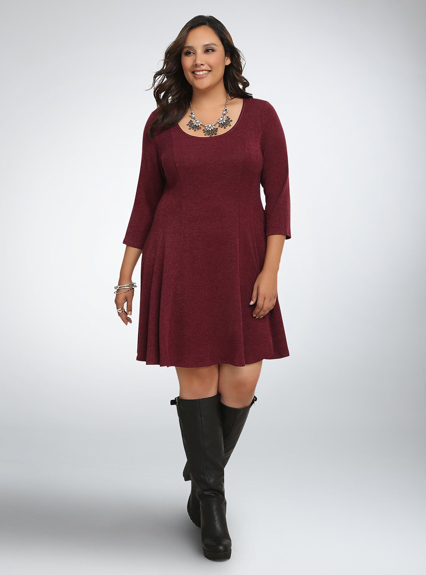 Knit Skater Sweater Dress | Dreamy Dress-up | Dresses, Plus size ...