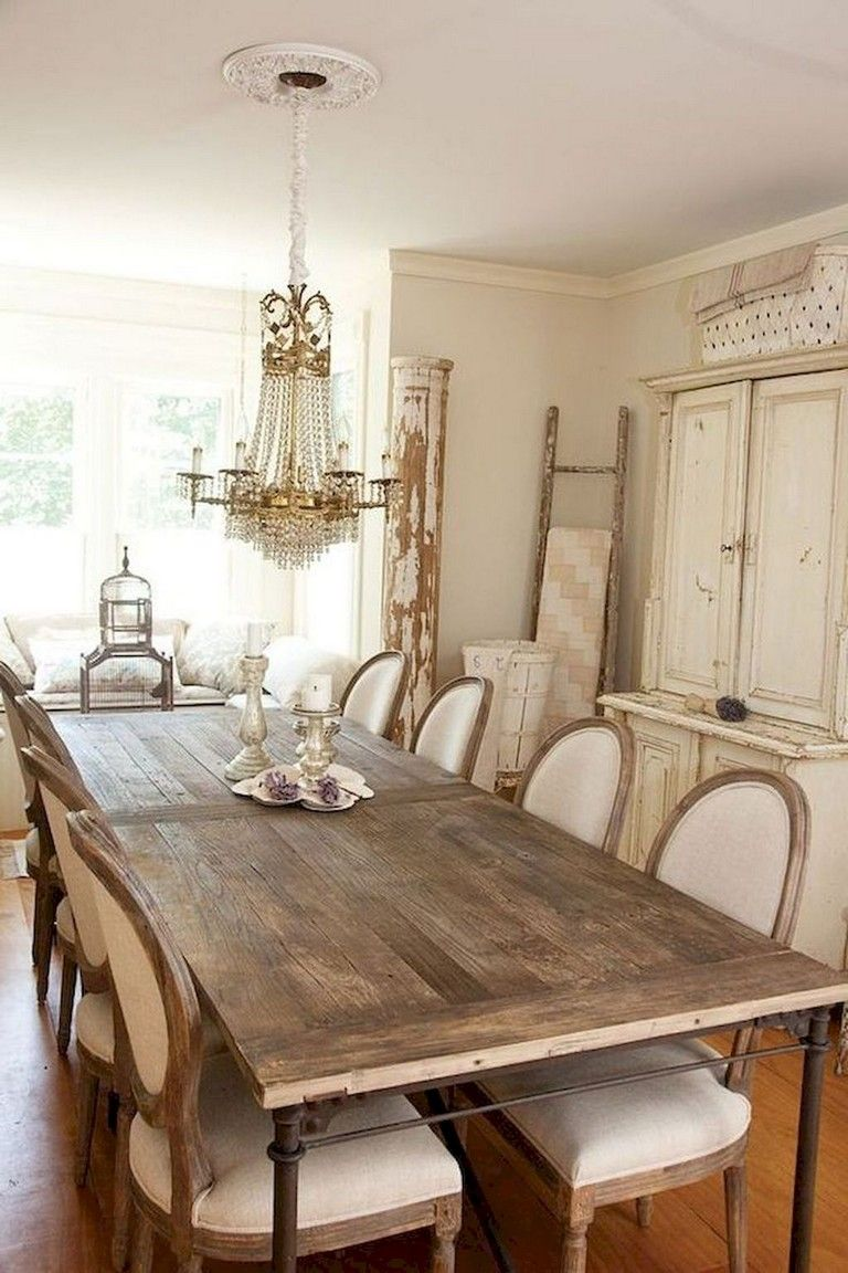 73 Awesome Vintage French Country Dining Room Design Ideas
