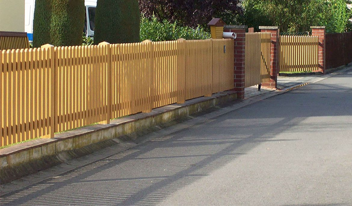 XXL fence panel made to measure |  Picket fence lower arch |  PVC plastic …